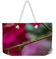 Three Reflecting Drops Weekender Tote Bag by Michelle Meenawong
