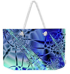 Three Shades Of Blue Weekender Tote Bag