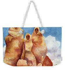 Three Sisters Of Ghost Ranch Weekender Tote Bag