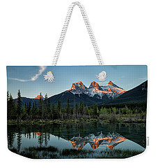 Three Sisters Sunrise Weekender Tote Bag