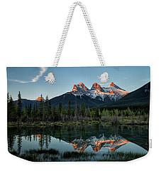 Three Sisters Sunrise Weekender Tote Bag
