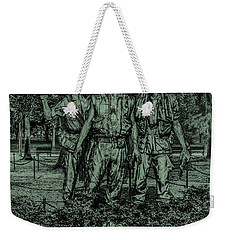 Weekender Tote Bag featuring the photograph Three Soldiers Memorial by David Morefield