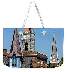 Three Steeples Of St Johnsbury Vermont Weekender Tote Bag by Tim Kirchoff