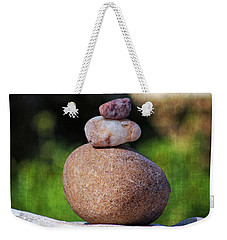 Weekender Tote Bag featuring the photograph Three Stones by Ella Kaye Dickey