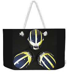 Three Striped Wolverine Helmets Weekender Tote Bag