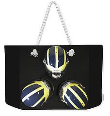 Three Striped Wolverine Helmets Weekender Tote Bag