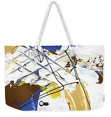 Three Color Palette Blue 3 Weekender Tote Bag by Michal Mitak Mahgerefteh