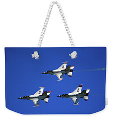 Weekender Tote Bag featuring the photograph Three Thunderbirds by Raymond Salani III