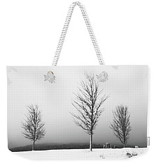 Three Trees In Winter Weekender Tote Bag