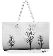 Three Trees In Winter Weekender Tote Bag by Brooke T Ryan