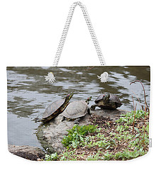 Three Turtles Weekender Tote Bag by Suhas Tavkar