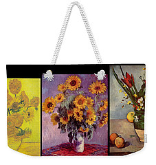 Three Vases Van Gogh - Cezanne Weekender Tote Bag by David Bridburg