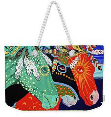Three Visions Weekender Tote Bag by Debbie Chamberlin