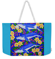 Three Whales  Weekender Tote Bag