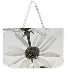 Three White Coneflowers Weekender Tote Bag