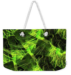 Weekender Tote Bag featuring the digital art Threshed Green by Ron Bissett