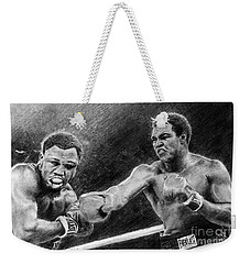 Thrilla In Manilla Pencil Drawing Weekender Tote Bag