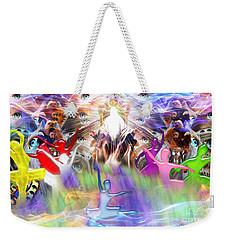 Weekender Tote Bag featuring the digital art Throneroom Dance by Dolores Develde