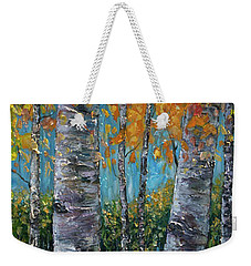 Through The Aspen Trees Diptych 1 Weekender Tote Bag