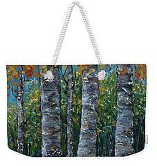 Through The Aspen Trees Diptych 2 Weekender Tote Bag