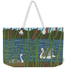 Through The Cattails Weekender Tote Bag