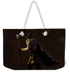 Weekender Tote Bag featuring the sculpture Through The Gloom by Dave Luebbert