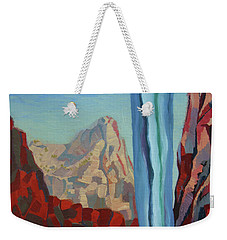 Weekender Tote Bag featuring the painting Through The Narrows, Zion by Erin Fickert-Rowland