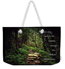 Weekender Tote Bag featuring the photograph Through The Shadows by Jessica Brawley
