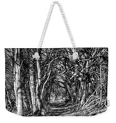 Through The Tunnel Bw 16x20 Weekender Tote Bag