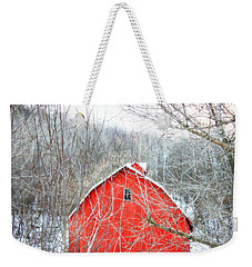 Weekender Tote Bag featuring the photograph Through The Woods by Julie Hamilton