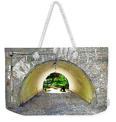 Weekender Tote Bag featuring the mixed media Through by Tony Rubino