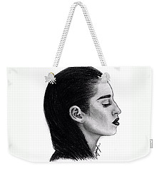 Lauren Jauregui Drawing By Sofia Furniel Weekender Tote Bag