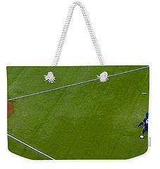 Throwing The First Pitch Weekender Tote Bag by Nina Silver