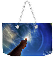 Thumb To The Sky Weekender Tote Bag