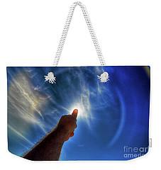 Thumb To The Sky Weekender Tote Bag