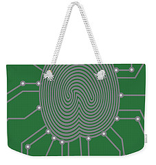 Thumbprint With Circuit Board Illustration Weekender Tote Bag by Jit Lim