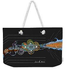 Weekender Tote Bag featuring the digital art Thunder Gun by Iowan Stone-Flowers