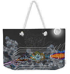 Weekender Tote Bag featuring the digital art Thunder Gun Of The Dead by Iowan Stone-Flowers