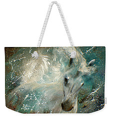 Weekender Tote Bag featuring the painting Poseiden's Thunder by Barbie Batson