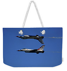 Weekender Tote Bag featuring the photograph Thunderbirds Reflective Pass by Raymond Salani III