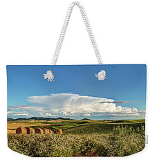 Thunderhead And Bales Weekender Tote Bag