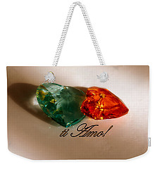 Weekender Tote Bag featuring the photograph Ti Amo by Richard Ricci