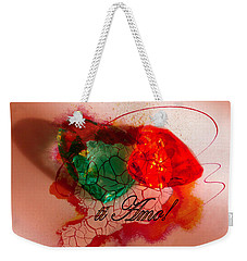 Weekender Tote Bag featuring the photograph Ti Amo Too by Richard Ricci