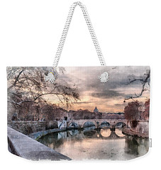 Weekender Tote Bag featuring the photograph Tiber - Aquarelle by Sergey Simanovsky