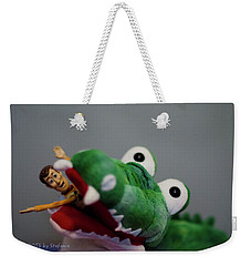 Tick Tock Crock Weekender Tote Bag by Stefanie Silva