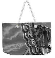 Weekender Tote Bag featuring the photograph Tickets Bw by Laura Fasulo