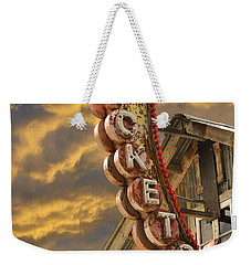 Weekender Tote Bag featuring the photograph Tickets  by Laura Fasulo