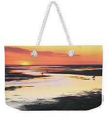 Tidal Flats At Sunset Weekender Tote Bag by Roupen  Baker