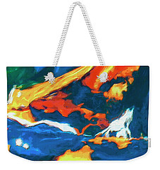 Weekender Tote Bag featuring the painting Tidal Forces by Dominic Piperata