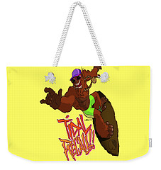 Weekender Tote Bag featuring the drawing Tidal Recall  by Nelson Dedos Garcia